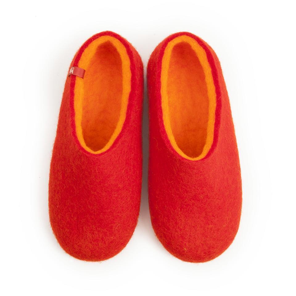 Wooppers felt slippers DUAL RED orange