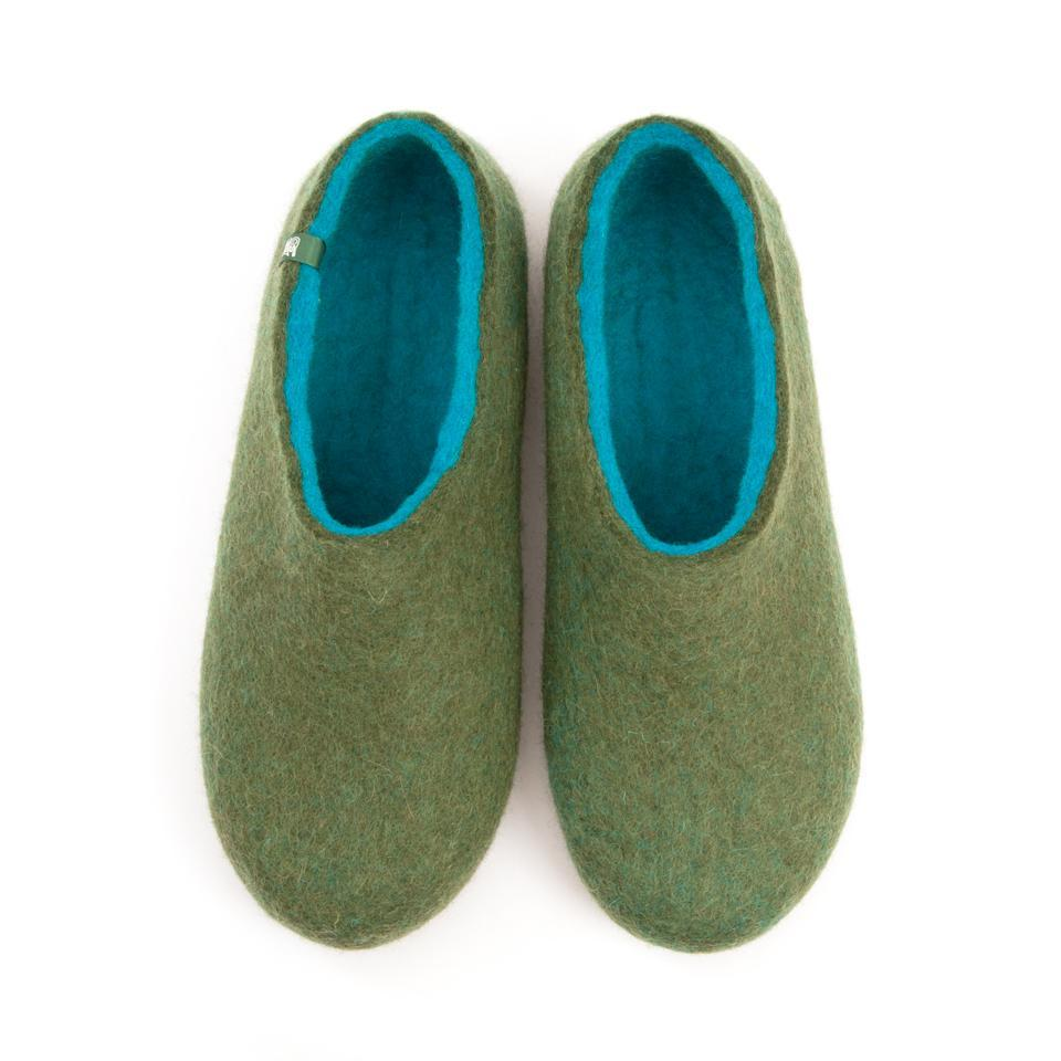 Shoe slippers DUAL OLIVE GREEN turquoise