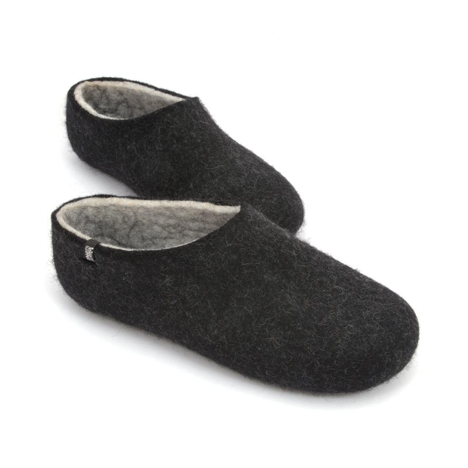Most comfortable slippers, DUAL BLACK white, by Wooppers -b