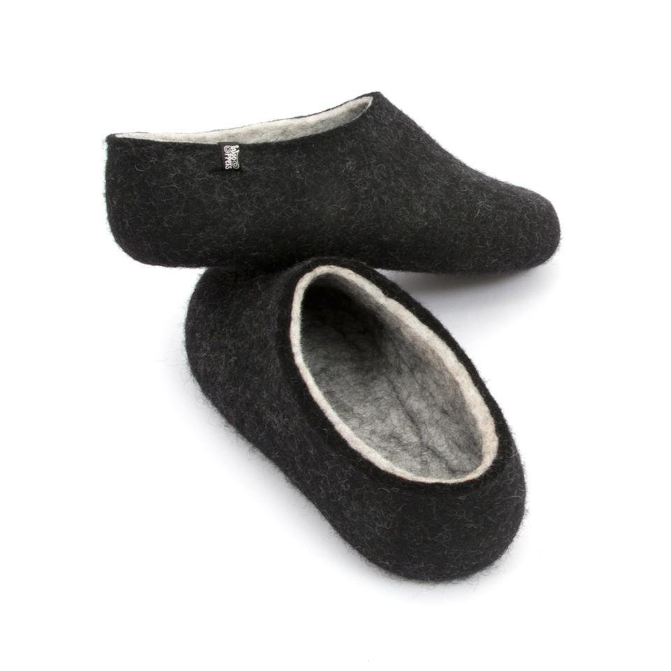 Most comfortable slippers, DUAL BLACK white, by Wooppers -c