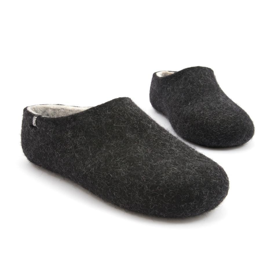 Most comfortable slippers, DUAL BLACK white, by Wooppers -e