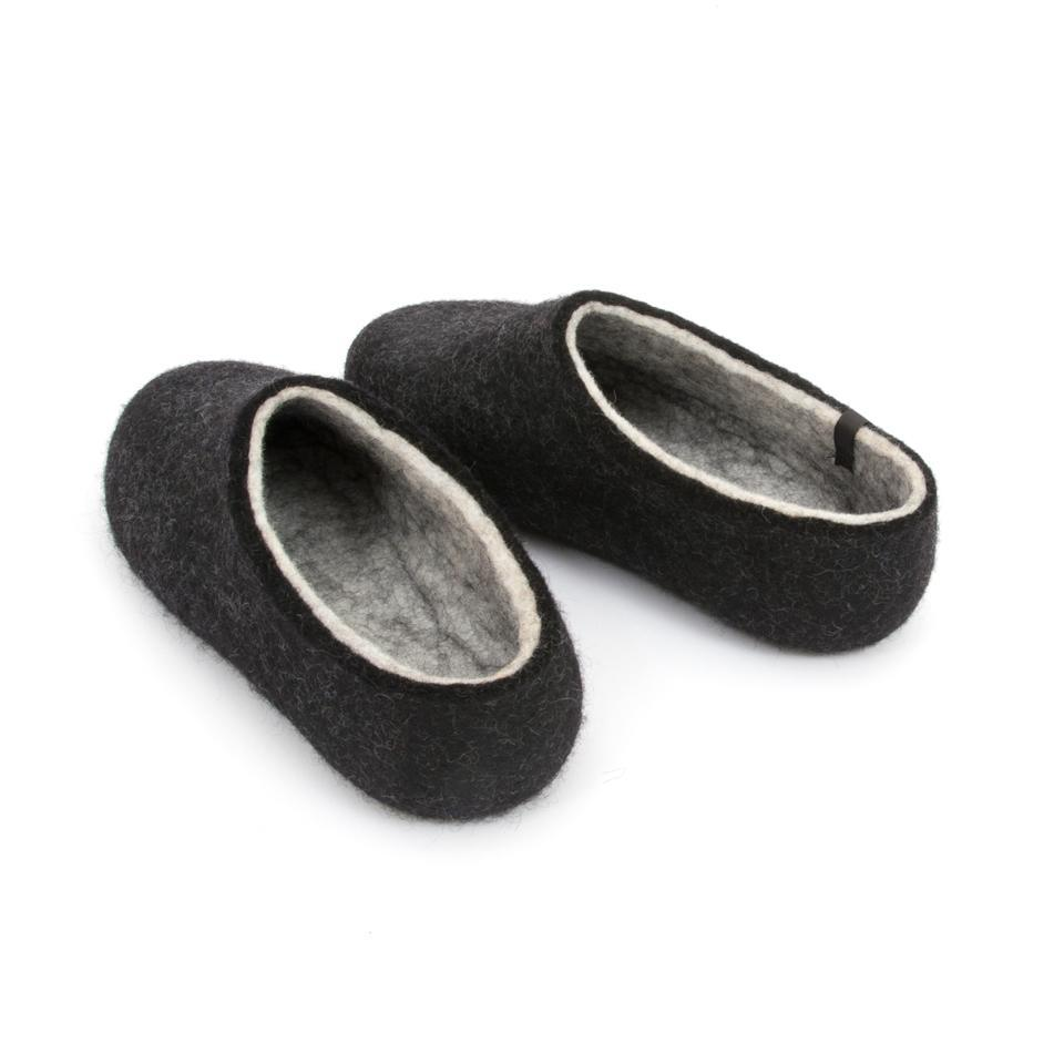 Most comfortable slippers, DUAL BLACK white, by Wooppers -f