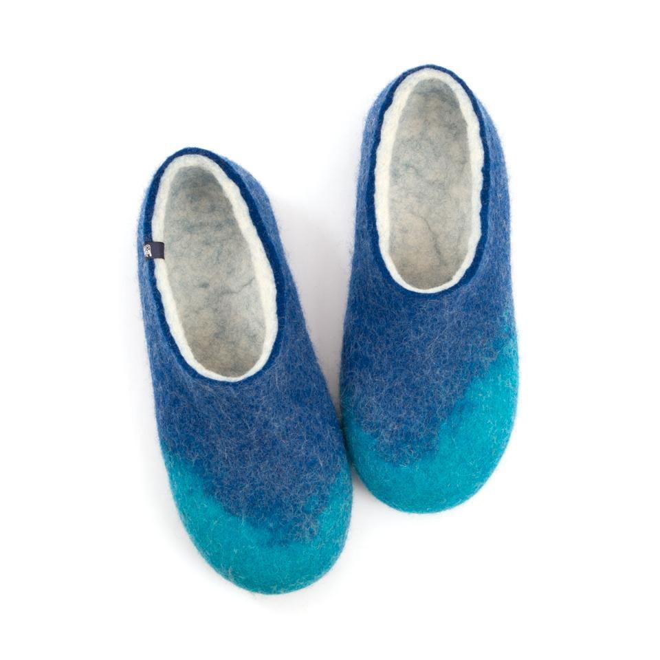 AMIGOS wooppers slippers turquoise blue white