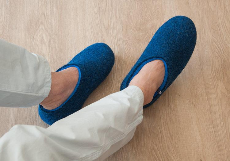 Mens slippers by Wooppers felted wool slippers