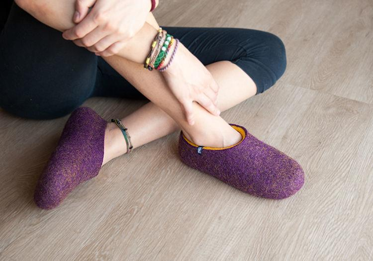 Womens slippers felted wool slippers by Wooppers