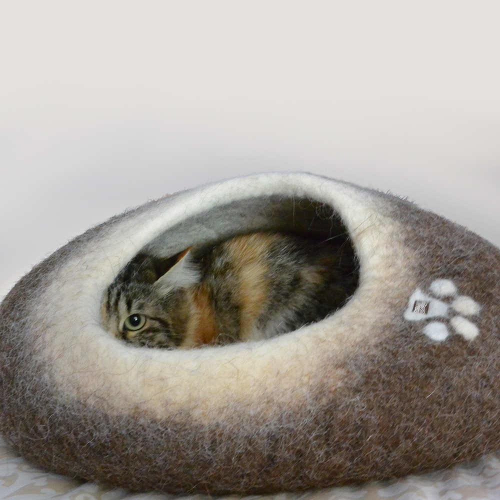 Bio-Friendly Rectangle Soft off-White Natural Wool 2/'6x3/'5 Sheepskin Cat Bed
