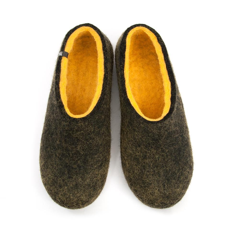 FELT House shoes DUAL BLACK yellow