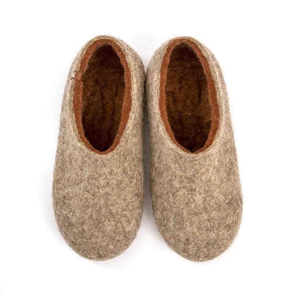 Comfort slippers DUAL NATURAL brown