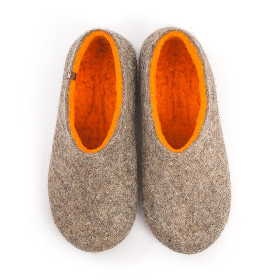 Mens house shoes DUAL NATURAL orange