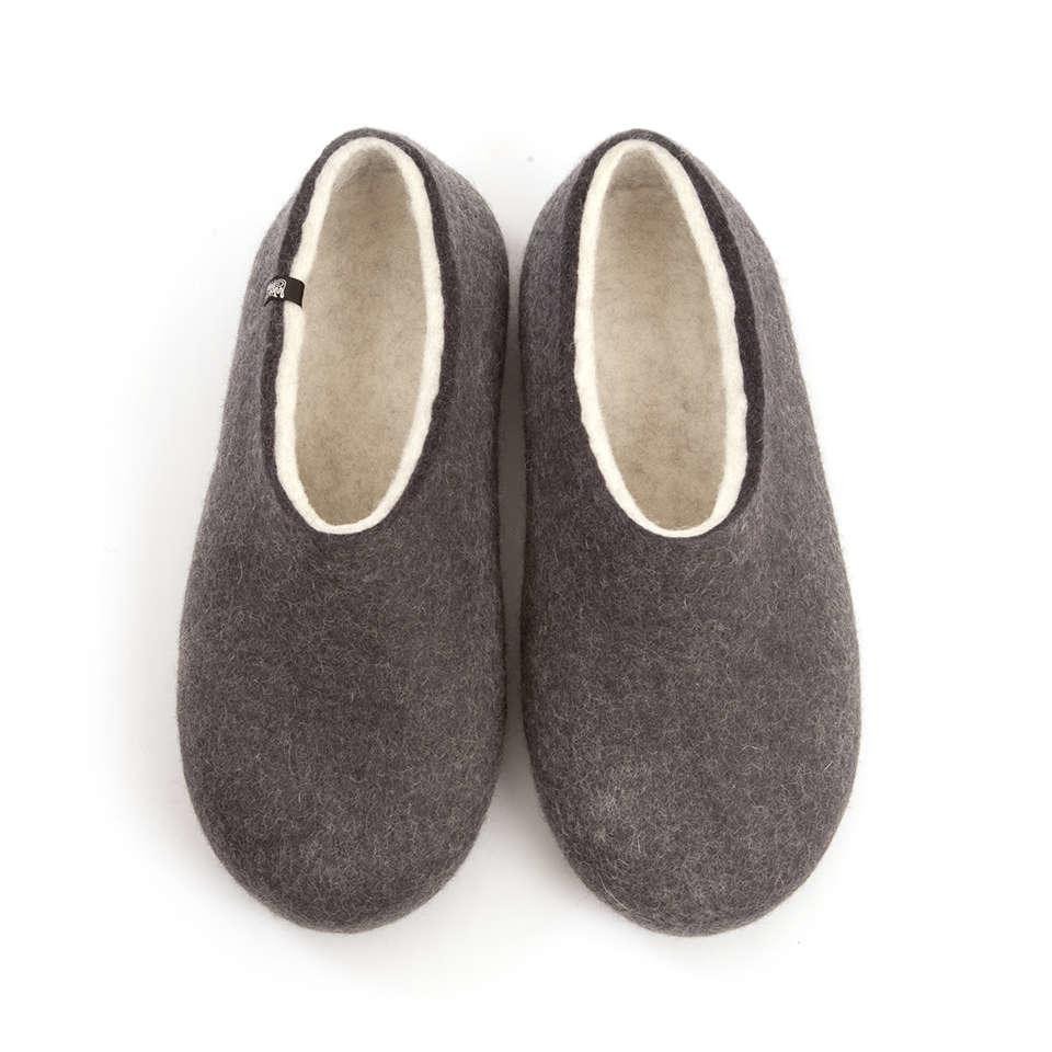 Felt house slippers BLISS anthracite