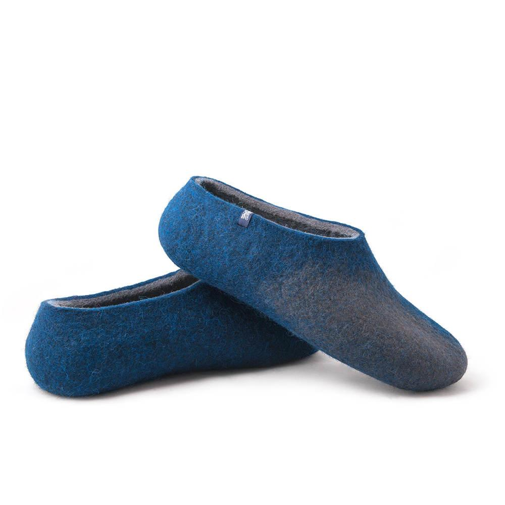 c94d05be5 Wool felted slippers in grey-night blue, AMIGOS collection by Wooppers -.  Next