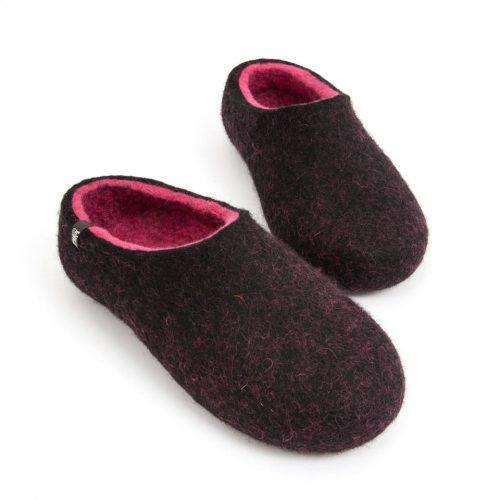 Soft slippers, DUAL Black fuchsia by Wooppers -d