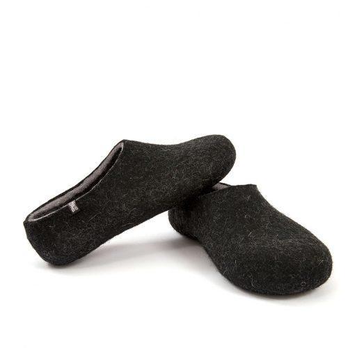 Black slippers, DUAL Black grey by Wooppers -c