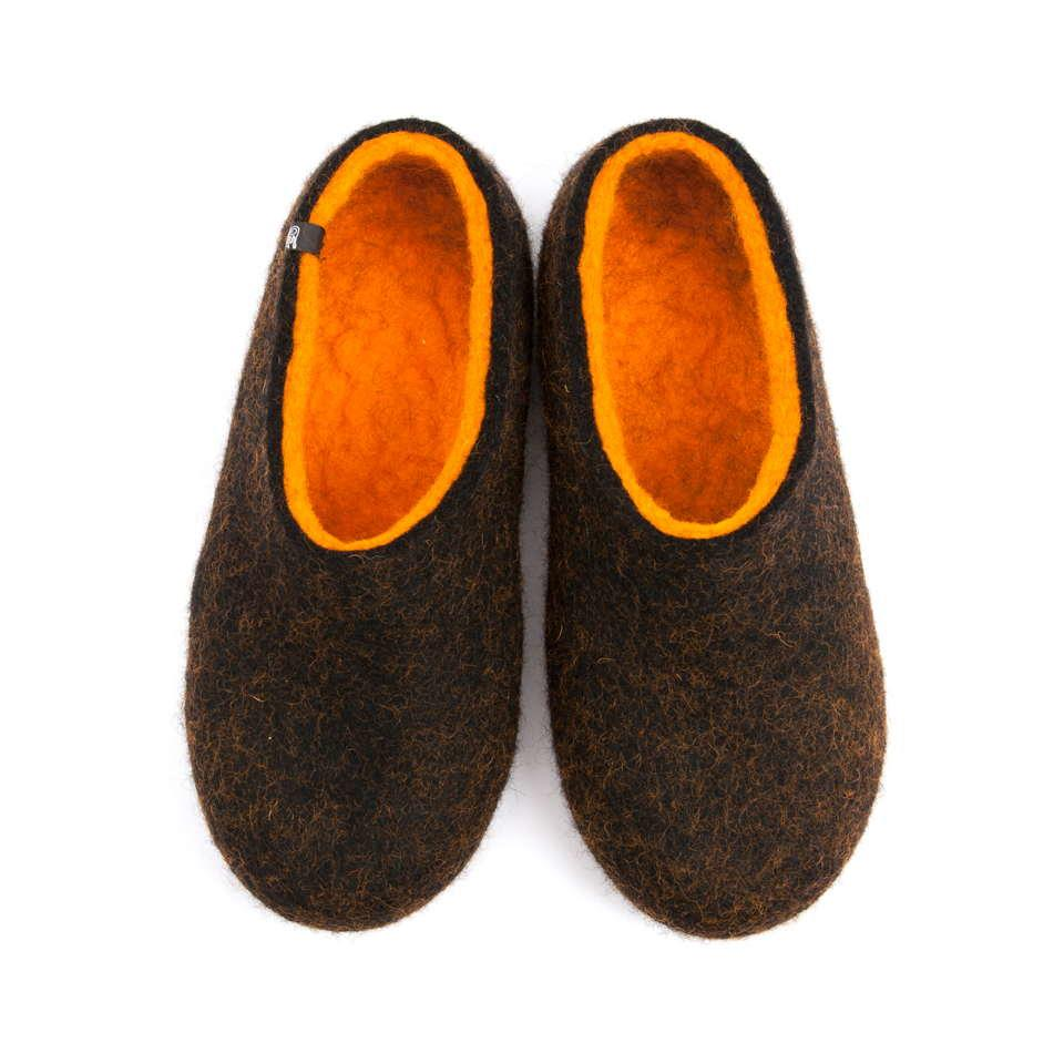 House slippers DUAL BLACK orange