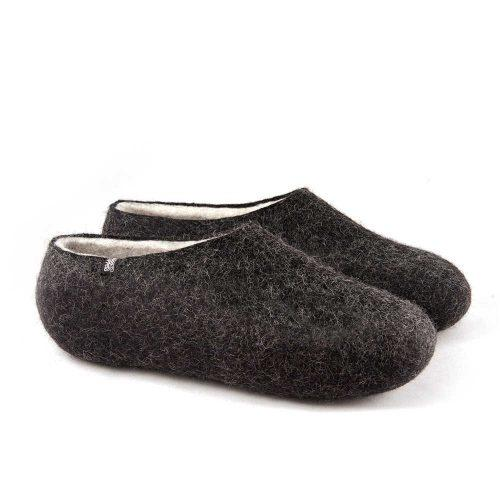 Black white slippers DUAL Black collection by Wooppers -c