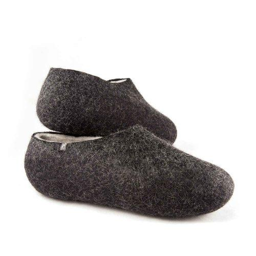 Black white slippers DUAL Black collection by Wooppers -d