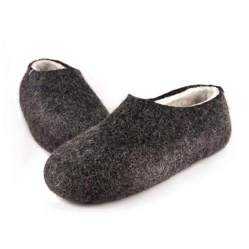 Black white slippers DUAL Black collection by Wooppers -f
