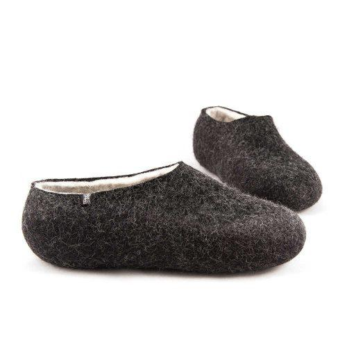 Black white slippers DUAL Black collection by Wooppers -i