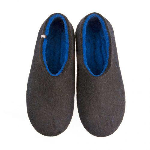 Gents slippers, DUAL BLACK blue by Wooppers -a