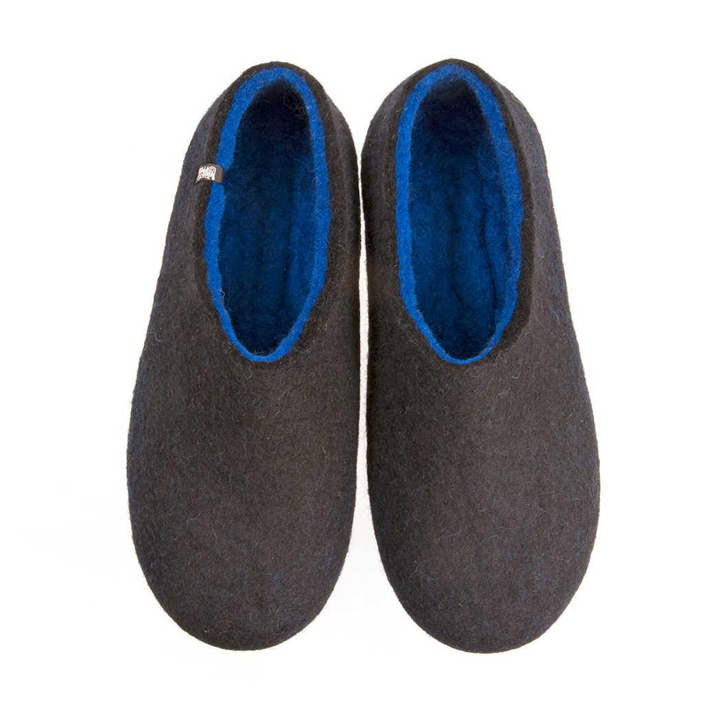 FELT House shoes DUAL BLACK blue