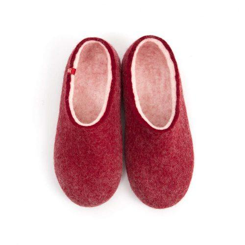 House clogs BLISS dark red by Wooppers slippers