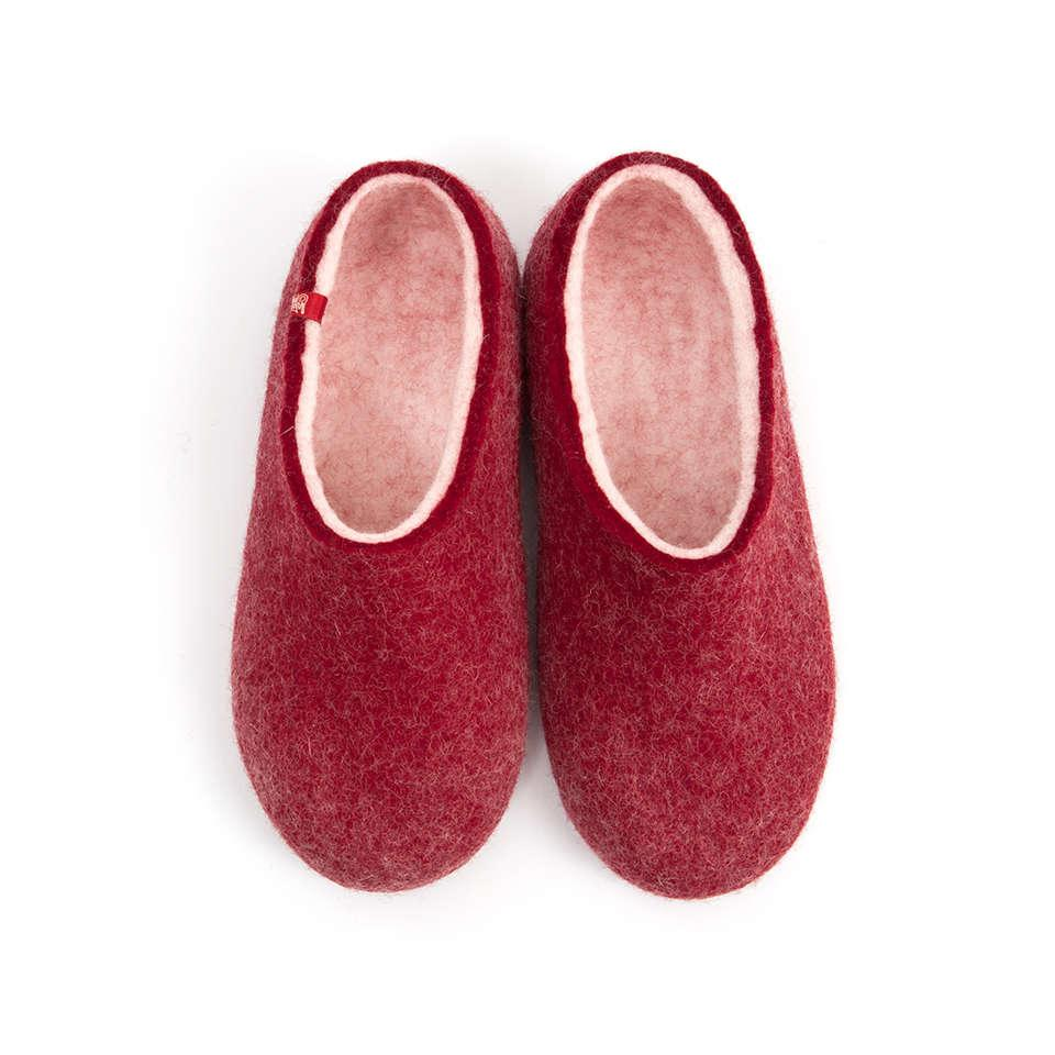 BLISS dark red house clogs
