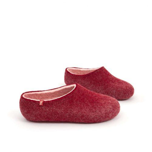 House clogs BLISS dark red by Wooppers slippers b