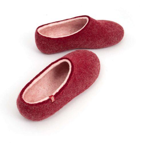 House clogs BLISS dark red by Wooppers slippers e
