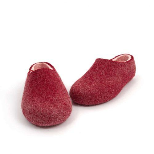 House clogs BLISS dark red by Wooppers slippers f