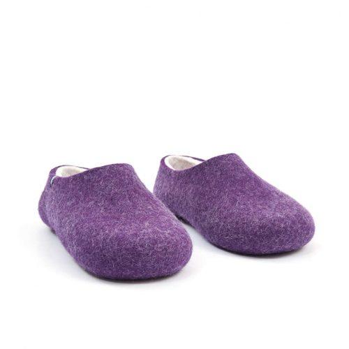Purple Felt Wool Slippers by Wooppers - BLISS collection d