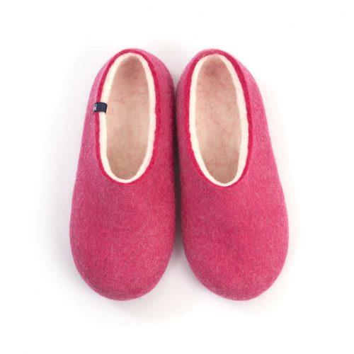 """Womens wool slippers Pink from the """"Bliss"""" Wooppers slippers collection"""