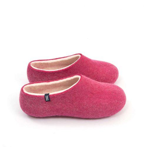 """Womens wool slippers Pink from the """"Bliss"""" Wooppers slippers collection b"""