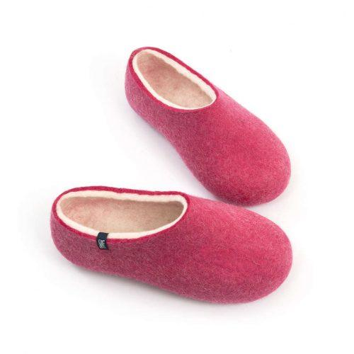 """Womens wool slippers Pink from the """"Bliss"""" Wooppers slippers collection c"""