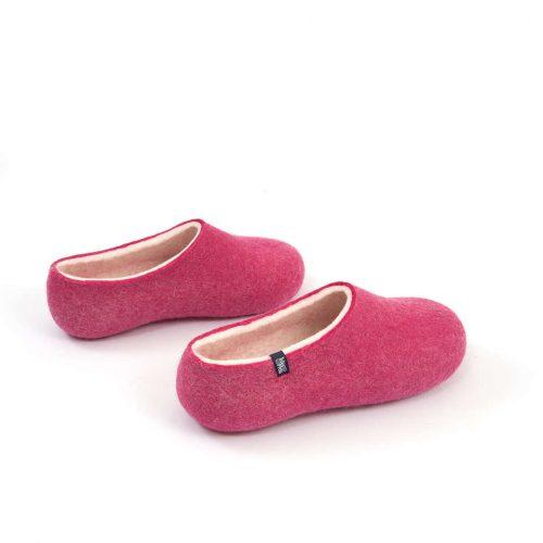 """Womens wool slippers Pink from the """"Bliss"""" Wooppers slippers collection d"""