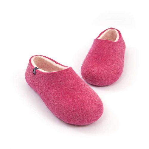 """Womens wool slippers Pink from the """"Bliss"""" Wooppers slippers collection e"""