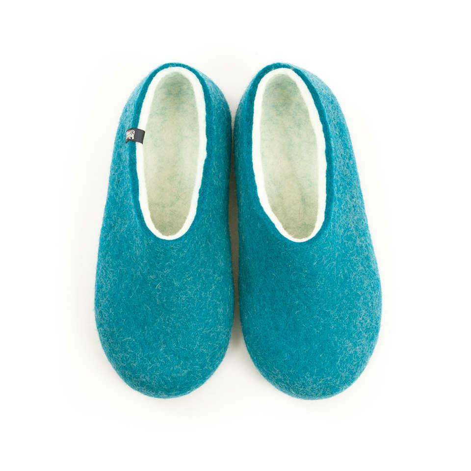 BLISS blue azure womens felt slippers