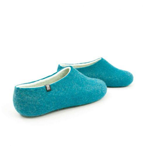 Womens felt slippers BLISS azure blue by Wooppers f