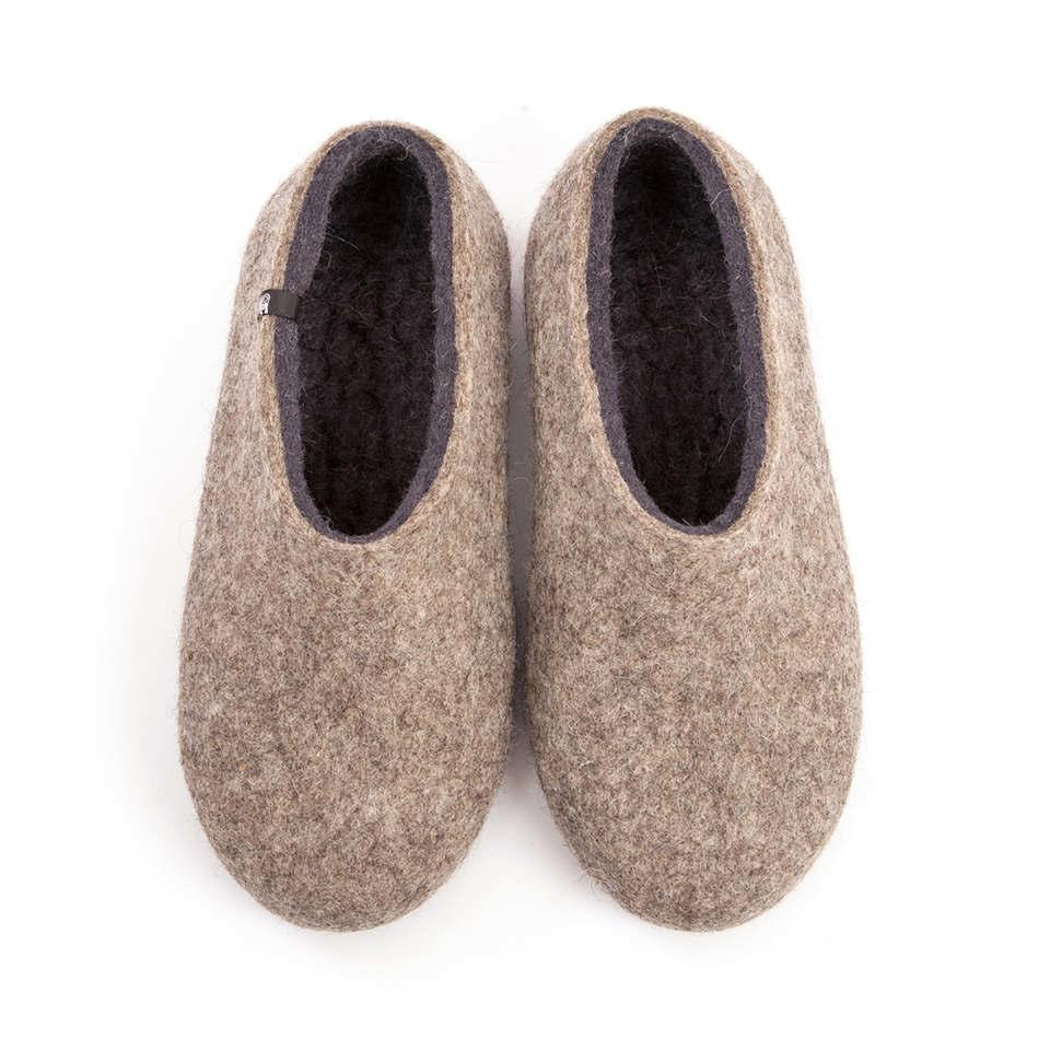 Grey mens slippers DUAL NATURAL grey