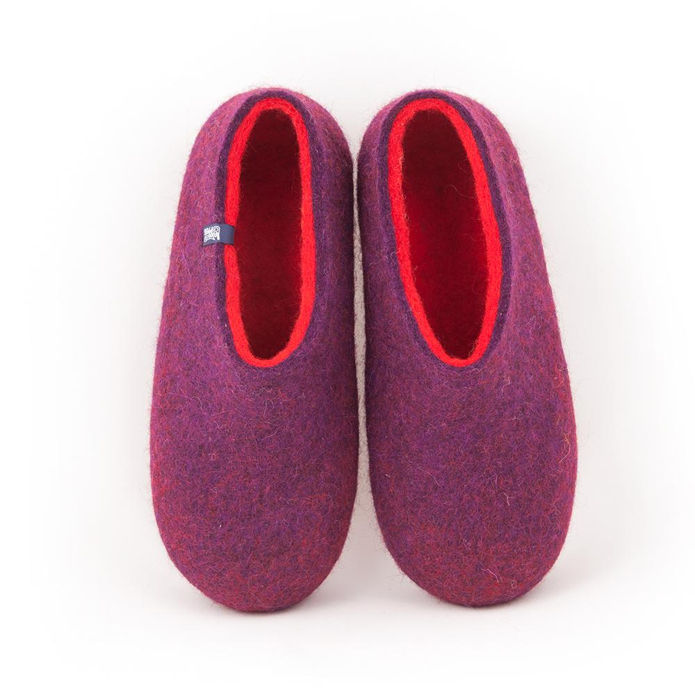 Winter slippers DUAL PURPLE red