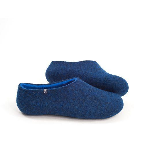 Wooppers blue slippers for men with sky blue interior