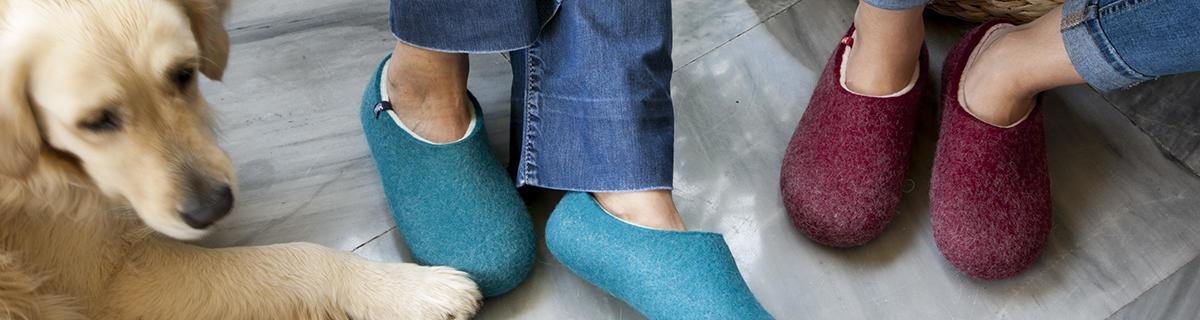 Merino wool slippers for ladies from the BLISS collection by Wooppers