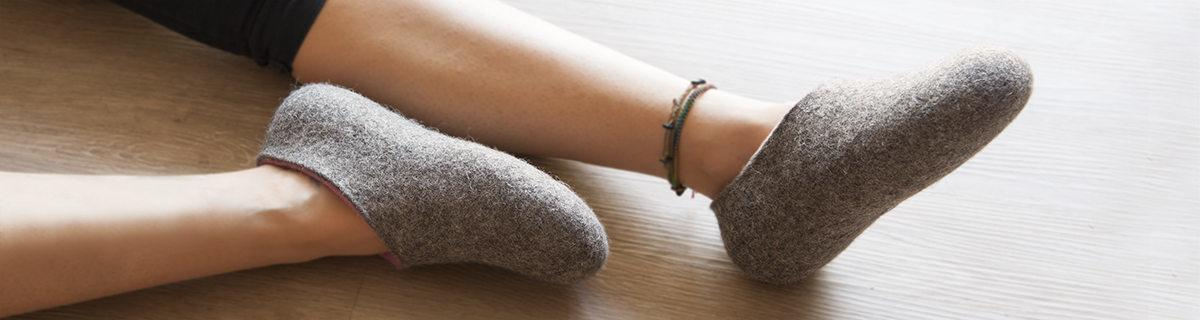 DUAL NATURAL slippers collection by Wooppers woolen slippers