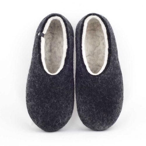 Most comfortable slippers, DUAL BLACK white, by Wooppers -a