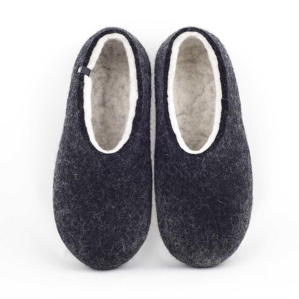 FELT House shoes DUAL BLACK white