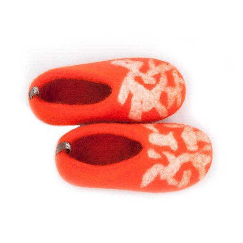 children's slippers BITS orange by Wooppers a