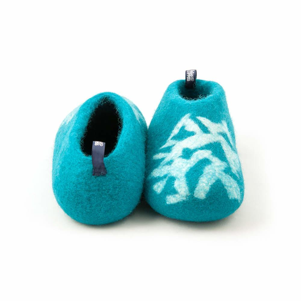d867b75bf540 Non slip slippers BITS blue turquoise for kids - by Wooppers