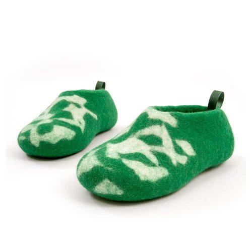 Kids house shoes BITS green by Wooppers g