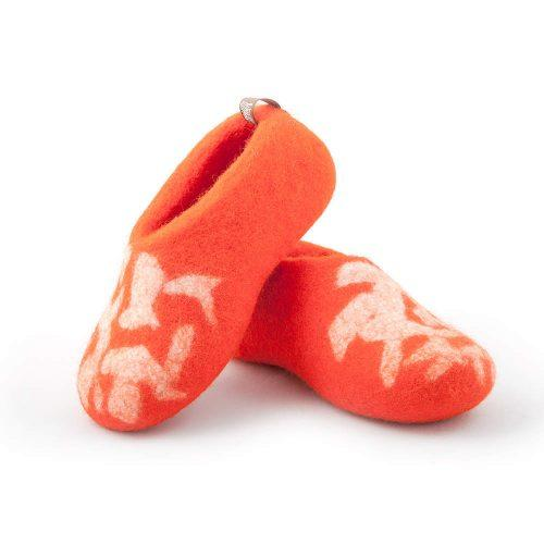 children's slippers BITS orange by Wooppers ca