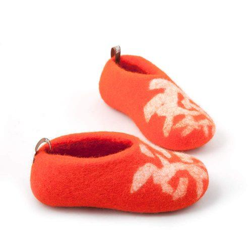 children's slippers BITS orange by Wooppers d