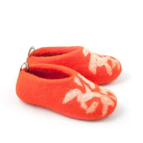 children's slippers BITS orange by Wooppers e